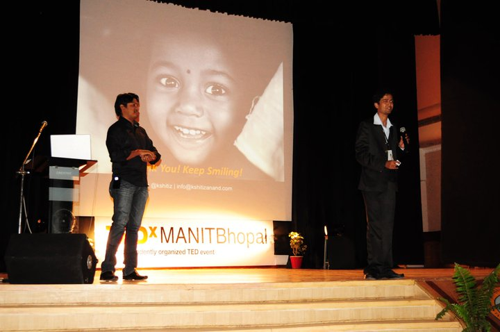 Presenting at TEDxMANIT Bhopal