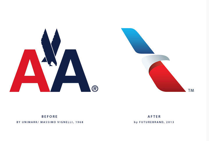 The new American Airlines logo